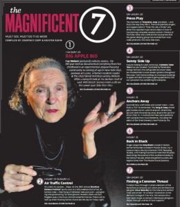 Magnificient 7 page featuring Fay Webern
